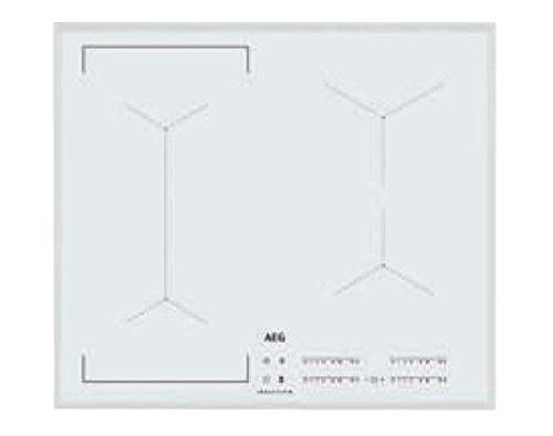 AEG – Placa de inducción IKE 64443 FW de cristal biselado blanco de 59 cm