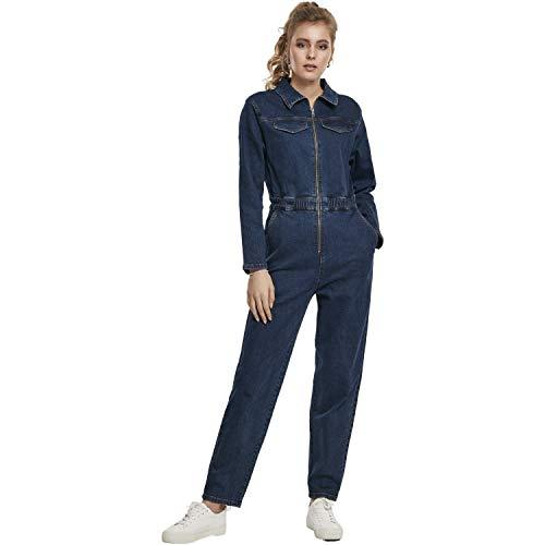 Urban Classics Damen Einteiler Ladies Boiler Suit Klassische Hose, darkblue, XL