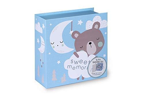Tri-Coastal Design - Box of Memories - Eine Box für Souvenirs mit 10 Schubladen - Ideal als Geburtstagsgeschenk oder als Schmuckbox zum Aufstellen auf dem Schreibtisch oder auf dem Nachttisch - blau