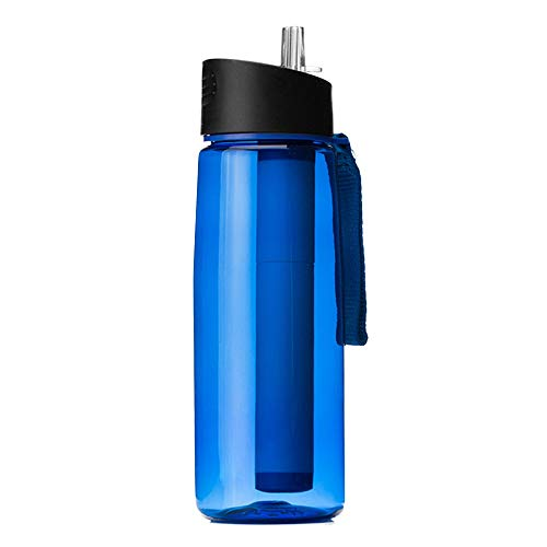 NO LOGO Purificateur d'eau de rechange pour bouteille d'eau - Pour camping, randonnée, voyage - Couleur : marron