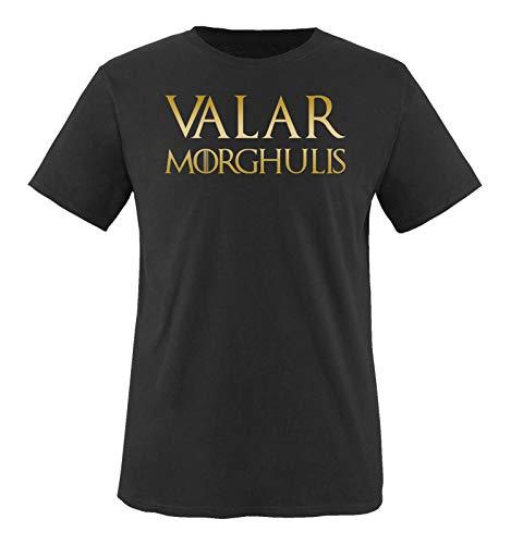 Just Style It - Valar Morghulis - Game of Thrones - Herren T-Shirt - Schwarz/Gold Gr. L