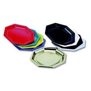 Assiette couleur vert anis jetable octogonale ø18.5 cm, par 50