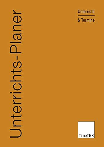 TimeTEX Unterrichts-Planer - A4 - Heft - Rot/Braun - 10782 - Unterrichtsplaner