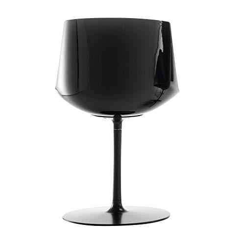 MDF Italia Flow Stuhl Tellerfuß, Graphit Sitzschale schwarz pigmentiert BxHxT 53x80.5x54cm Gestell Graphitgrau matt lackiert