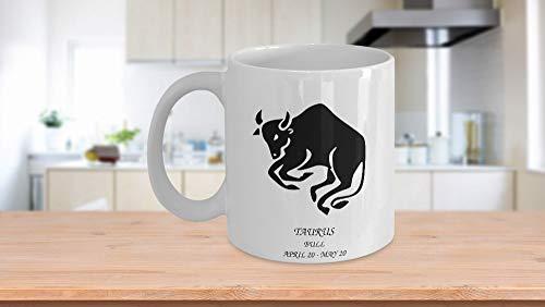 Taza de café de 325 ml, taza de té, taza del zodiaco Taurus The Bull Tea Mug Regalos para mujeres y hombres