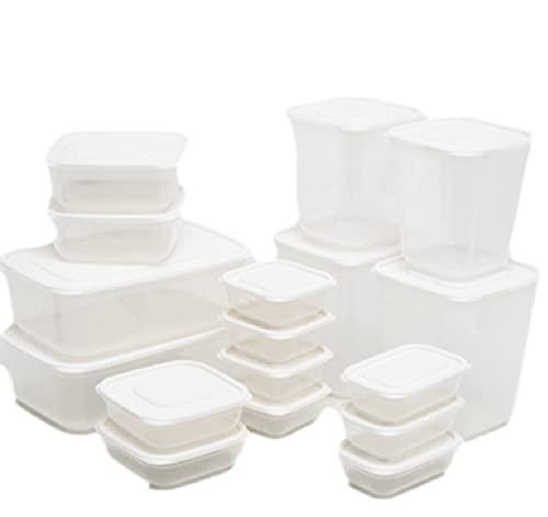freaky Caja De Almacenamiento De Alimentos De Gran Capacidad Caja De Preparación De Comidas De 17 Piezas-lonchera con Tapa Sin Bisfenol Una Caja Apilable para Alimentos Congelados De Cocina