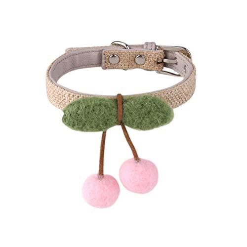 Balacoo Handgestrickter Katzenkragen-Kirschanhänger - Katzenfliege Verstellbarer Krawattehalsband für Kleine Hunde Und Katzen