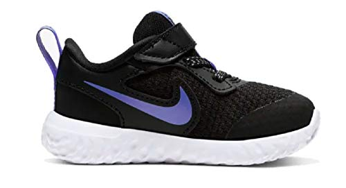 Nike Kleinkinder Klett-Sportschuhe Freizeitschuhe Revolution 5(TDV) schwarz, Größe:27