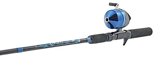 South Bend Worm Gear Fishing Rod and Spincast Reel Combo (Orange, Blue or Green, No Color Choice)