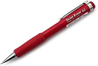 Pentel Automatic Pencil with Twist Eraser, 0.7 mm, Red (QE517B)