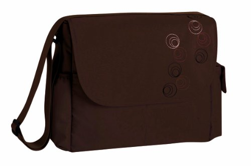Lässig MMB0601 Wickeltasche Marv Messenger Bag, circles choco, dunkelbraun