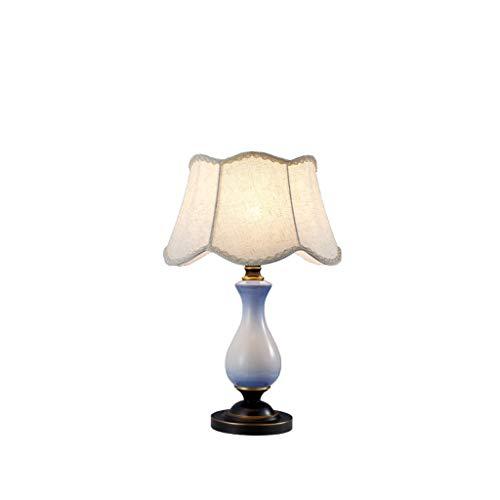 Lámparas de mesa de noche American Copper Mesa Lámpara de cerámica Sala principal Estudio lámpara de mesa de noche dormitorio lámpara de mesa lámpara de mesa retro creativo Lámparas de escritorio para