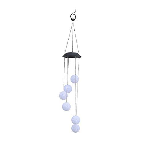 Romantische KristallkugelLampe Wind Chime Wasserdicht Farbwechsel Solarbetriebene Außen Wind Bell Licht Für Patio-garten-haus Ideale Wahl Und Practical