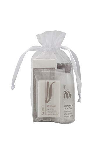 Línea cortesía Flower prestige - Kit de 100 unidades para hoteles, b&b AmeniitIES