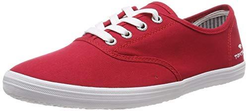 TOM TAILOR Damen 6992401 Sneaker, Rot (Red 00004), 41 EU