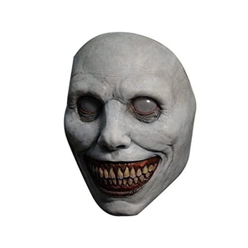 FA.cbj3 Máscara de Halloween, máscara de Halloween Espeluznante, Demonios sonrientes, Accesorios de Cosplay del Diablo Malvado Horrible, Accesorios de Fiesta de Disfraces de Halloween