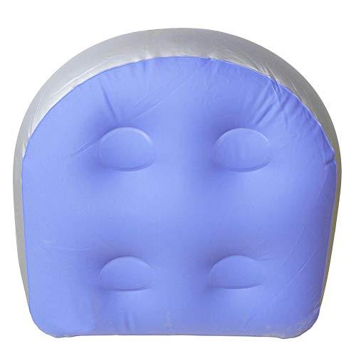 Linpu Aufblasbar Massage Matte- Whirlpool- und Hot Tub-Booster-Sitzpolster mit Saugnapf Rückenstütze Badewannen-Sitzpolster Weiches aufblasbares Massagekissen