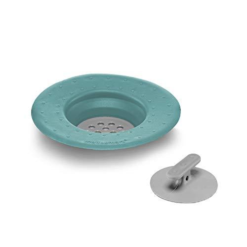 Made Smart 18224 Abflusssieb und Stopfen, blaugrün, Kunststoff, 2 Stück