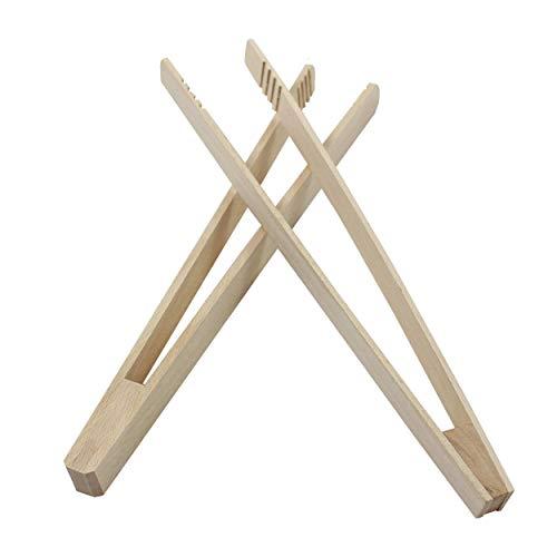 Smart Planet® Grillzange 2 Stück Holzzange Grill Zubehör aus Holz Grillbesteck Würstchen Zange 30 cm lang Würstchenzange zum Grillen Braten Kochen