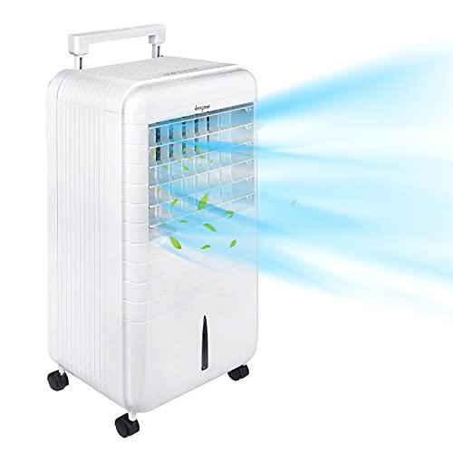 Froadp Climatizzatore mobile senza tubo di scarico, ventilatore 3 in 1, con umidificazione e purificatore d'aria (capacità 6 litri, 80 W)