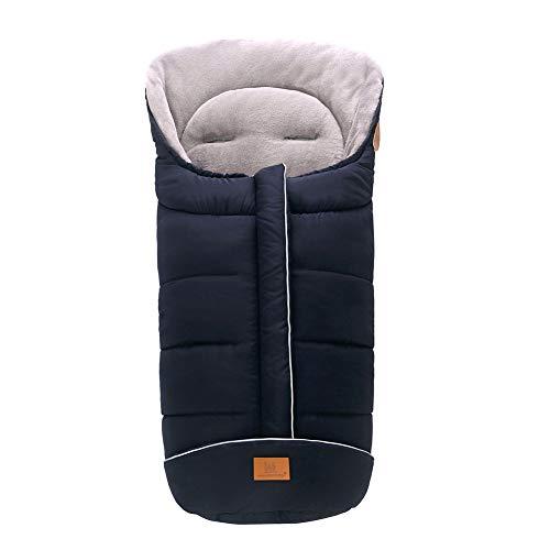 gerFogoo Baby Kinderwagen-Schlafsack, winddicht, warm, dicker Fußsack, Baby-Wimpelkette, Kleinkind-Kinderwagen-Decke, Wickeldecke für Autositz (Marineblau)
