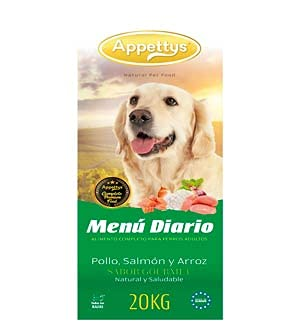 Appettys Pienso para Perros 20 Kg Daily Menu Pienso Mantenimiento para Perros 20 Kg