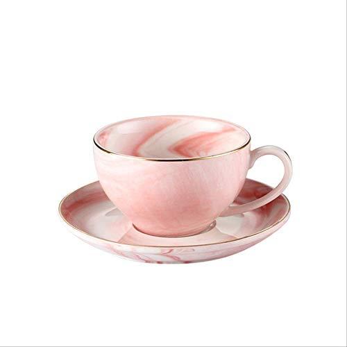 HYOUH Tassen- & UntertassensetsKreative Marmor Keramik Tasse Untertasse Set 125 ml Kaffeetassen Frühstück Milch Teetasse Porzellan Mode Geschenk 125 ml Stil A