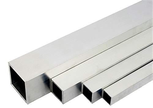 Aluminium Quadratrohr Alu Rohr Stab Stange Aluprofil Vierkantrohr Walzblank T66 (30x30x2mm - 1000mm)