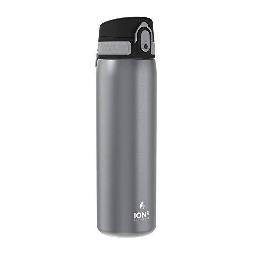 ion8 Auslaufsichere 500ml Trinkflasche, Grau