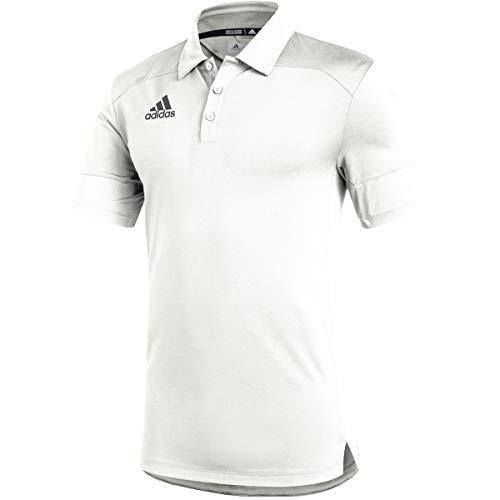 adidas Under The Lights Coaches Polo - Men's Multi-Sport M White/Grey