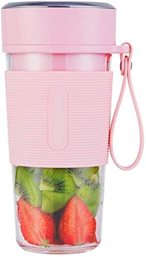 Juicer Smoothie Blender Smoothie Maker Cordless Small Juicer Cup Mixer, Portable Mini Personal Blender USB Oplaadbare (Color : Pink)