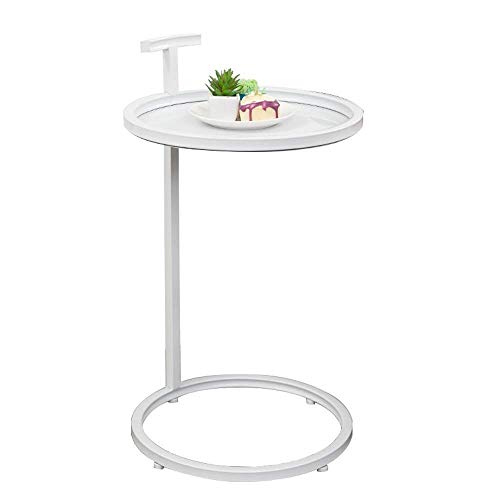 N/Z Home Equipment Coffee Table Side Table Iron Small Coffee Table Living Room Round Sofa Side Table Table Lamp Stand Small Rack Nesting Tables (Color : A)