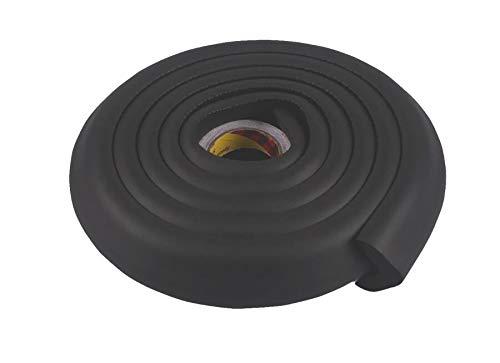 Stoßstangenschutz für Stoßstangen mit Kantenschutz mit Schutzkante für Kinder farbig - schwarz, 2m