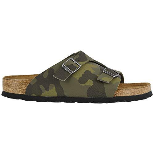 Birkenstock Mens Zrich Soft Footbed Birko-Flor Green Sandals 9 US