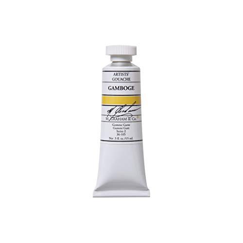 M. Graham 1/2-Ounce Tube Gouache Paint, Gamboge Gouache