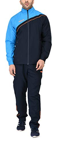 Fallyn Men's Polyester Regular Fit Track Suit Trak and Track Suit for Men Suits | Sports Track Sport Suits for Man | Stylish Trekking Suit | Running Suit Warm for Body (Navy Blue, XX Large)