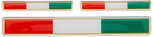 Autostyle QR 1687 Aufkleber 3D 'italienische Flagge'' 3 Stück