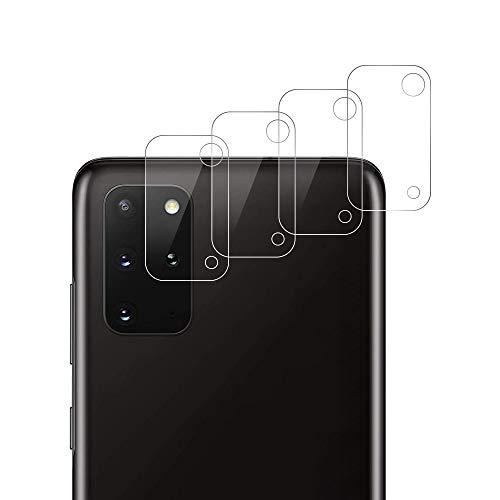 RSSYTZ 【4 piezas】Cámara Trasera Lente para Samsung Galaxy S20 Plus, Protector Cámara [Alta definición] Cristal Templado para Samsung S20 Plus