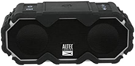 Altec Lansing Mini LifeJacket Jolt Bluetooth Speaker with Qi, Up to 16 Hours of Battery Life, Waterproof Portable Speaker, Voice Assistant, Black