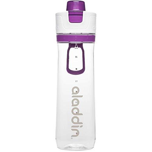 Aladdin Active Hydration Tracker Water Bottle, Purple, 0.8 Litre