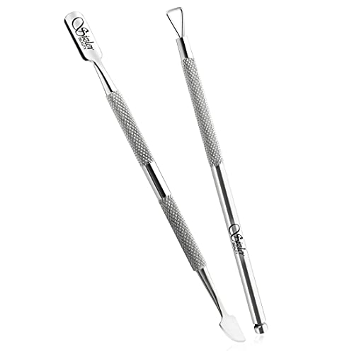 Cuticle Pusher Tool by Sizler Beauty, Nail cleaner, UV Gel Nail Polish Remover Tool/Scraper – Professional Cuticle Pusher Set/Manicure & Pedicure Set [Pack of 2]