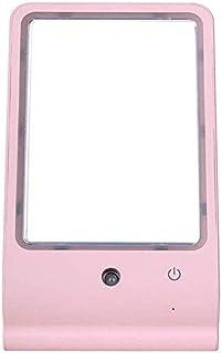 Beauty Spray Makeup Mirror, Cold Spray Desktop Spray Meter, Portable led Makeup Mirror with Light-Blue (Color : Pink) (Color : Pink)