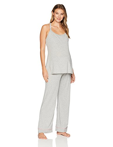 Cosabella Women's Bella Maternity 4-Piece Gift Set, Heather Grey/Mauvelous, Large