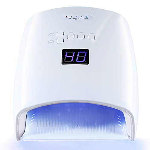 UV LED Nail Lamp for Gel Polish Rechargeable Nail Dryer with Automatic Sensor Nail Light for Fingernail and Toenail 5 Timer Setting LCD Display Nail Curing Lamp