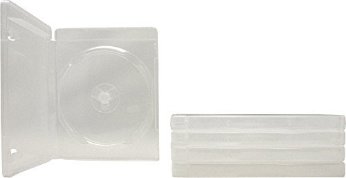 Square Deal Recordings & Supplies (5) Empty Standard Clear 14MM Replacement Boxes/Cases with Out Logo for Playstation 3 (PS3) Games #VGBR14PS3CL