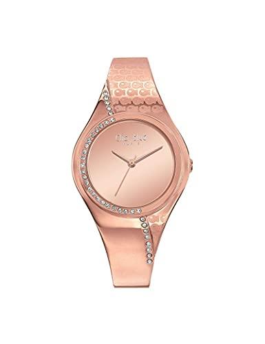 Reloj Clio Blue de acero para mujer, color rosa dorado