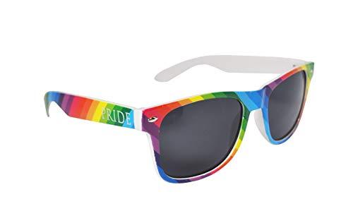 Bunt Stylische Gay Pride Sonnenbrille Regenbogen Farben Rainbow UV400 (WSPSG1)