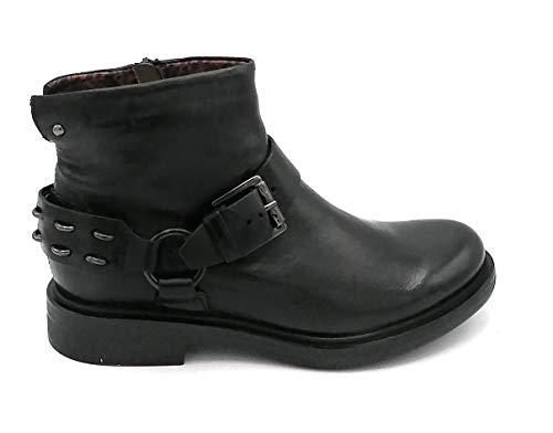 Mjus M64207 Stiefel aus Leder, schwarz, Reißverschluss, Zubehör 0-1, Schuhgröße 37 EU Schwarz