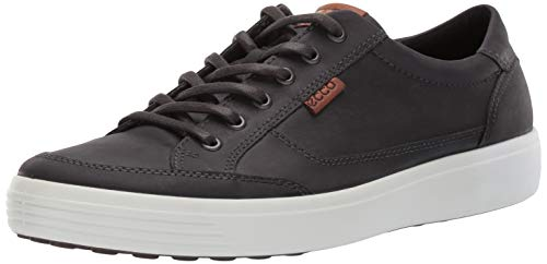 ECCO Men's Soft 7 Sneaker, Magnet Oil Nubuck, 44 M EU (10-10.5 US)