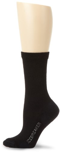 Icebreaker Lifestyle Crew Chaussettes Femme, Noir, FR : M (Taille Fabricant : M)